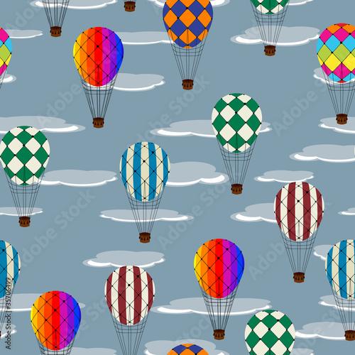 Hot air balloon pattern - 35706499