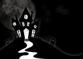 casa stregata sfondo halloween