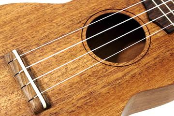 closeup vintage ukulele