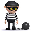 3d Burglar is paying the price for his crimes