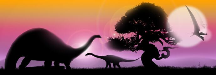 Dinosaurs soft landscape