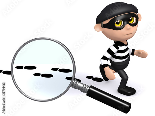 3d Burglar is being tracked!