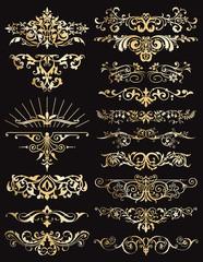ornamental golden dividers