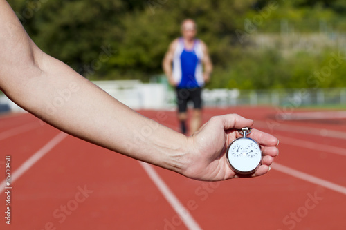 Stop watch runner