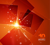 Orange shiny abstract background - 35711677