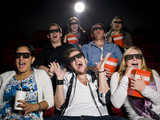 Scared movie spectators poster