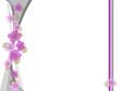 onde grigie con fiori viola