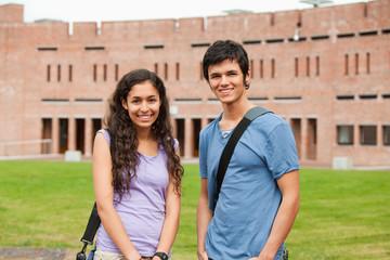 Young classmates posing