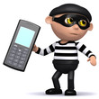 3d Burglar has stolen your cell phone!