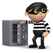 3d Burglar has opened the safe!
