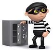 3d Burglar has opened the safe!