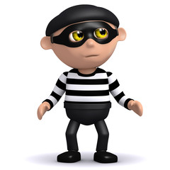 3d Burglar is alert to detection