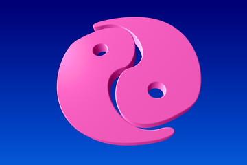 Yin-Yang pink