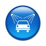 Fototapeta  - Boton brillante simbolo lavadero de coches © teracreonte