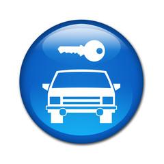 Boton brillante simbolo alquiler de coches