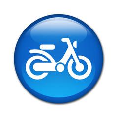 Boton brillante simbolo ciclomotor