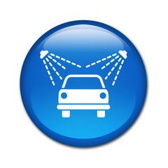 Boton brillante simbolo lavadero de coches