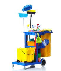 Janitor cart.