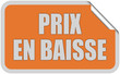 Sticker orange eckig curl oben PRIX EN BAISSE