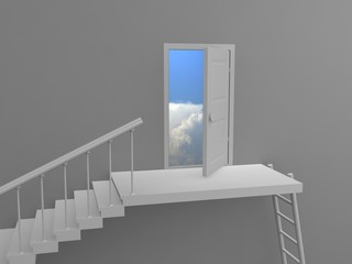 Exit to clouds