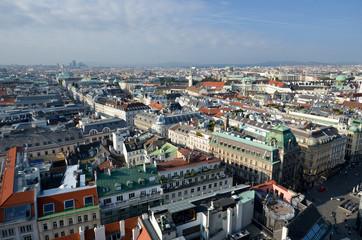 Au dessus de la ville de Vienne