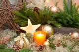 Fototapety Weihnachten in Gold und Grün