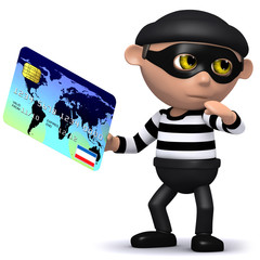 3d Burglar has someones credit card