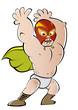 luchador cartoon