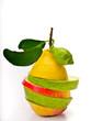 Alternate slices of fruit
