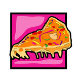 Clip art pizza slice icon