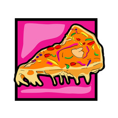 Clip art pizza slice icon