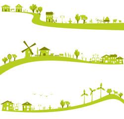 ville et campagne verte