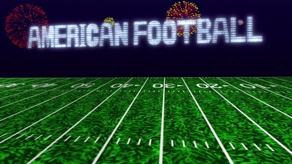 american footbal match up title background