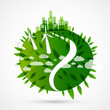 abstract green world illustration - ecology concept