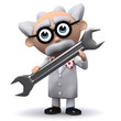 3d Mad Scientist uses a good old fashioned spanner