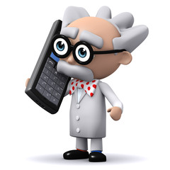 3d Mad Scientist makes a very important call.