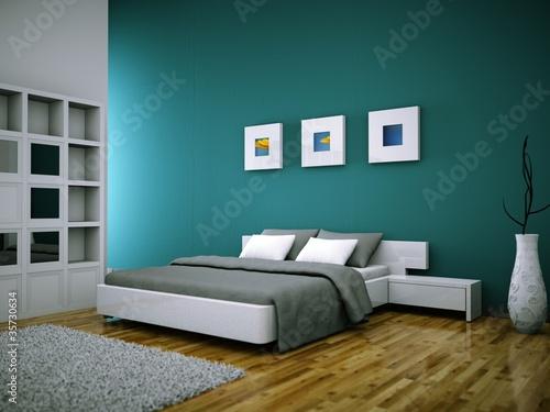 Fototapete wohndesign schlafzimmer vor petrolwand for Schlafzimmer petrol