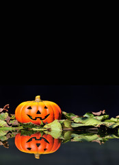 Calabaza de Halloween con espacio para texto