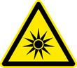 Warnschild Warnzeichen Gefährliche Optische Strahlung