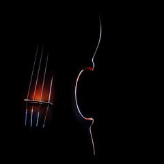 Violin music on black