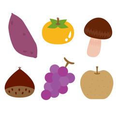 秋の味覚 6種