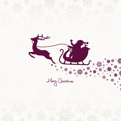 Christmas Sleigh & Snowflake Ornament Purple