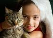 ange de Noël et son chat