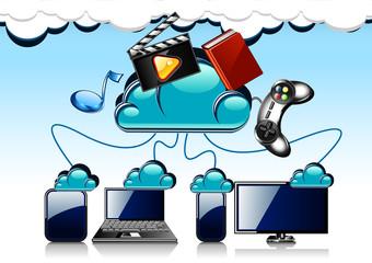 cartoon cloud technology