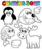 Fototapety Coloring book winter topic 2