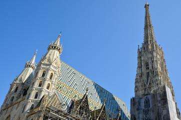 Toit de la cathédrale Saint Etienne dans Vienne