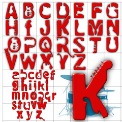 abc alphabet background rock upper lower design