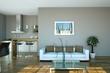 Wohndesign - Sofa weiss im Loft