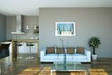 Fototapety Wohndesign - Sofa weiss im Loft