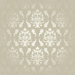 Seamless Damask Pattern Flowers & Leafs Silver/Gold